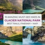 Best Hikes in Glacier National Park pinterest pin