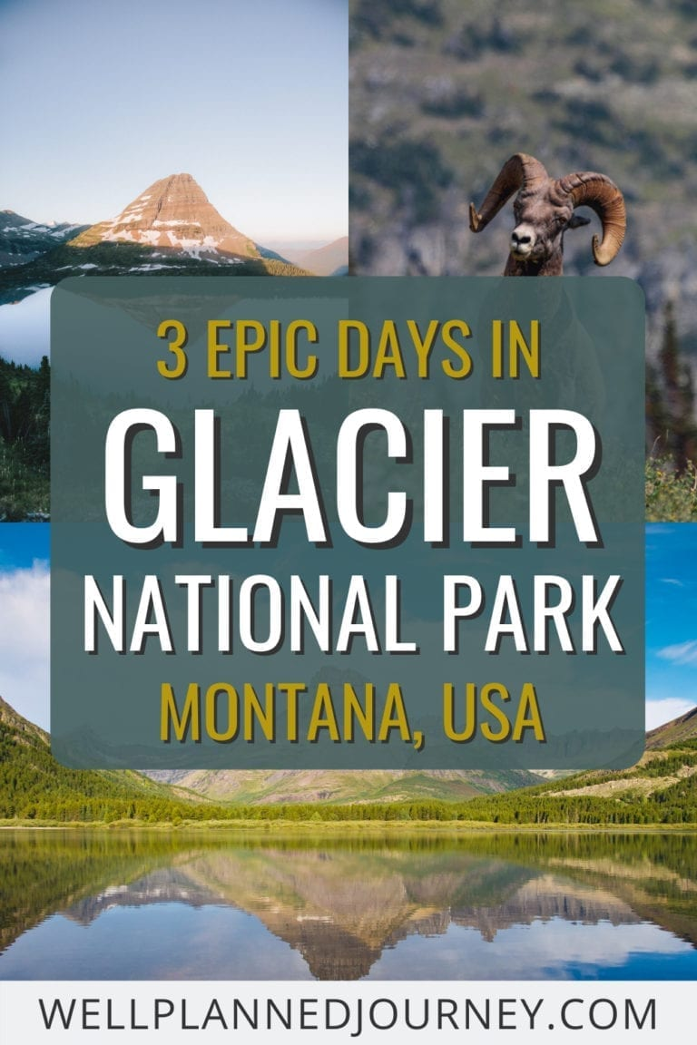 Pinterest pin for Glacier National Park 3-Day Itinerary
