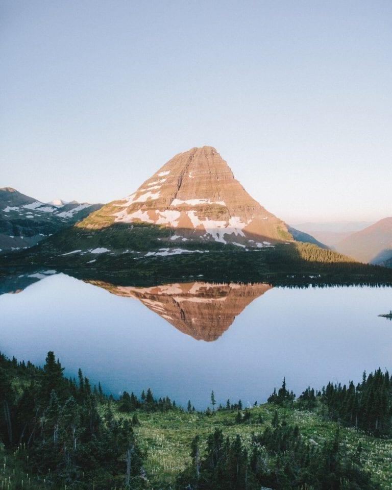 Sunrise at Hidden Lake Overlook in Glacier National Park