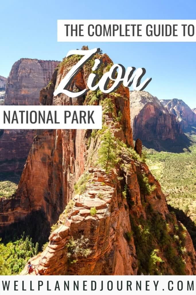 Zion National Park Pinterest Pin