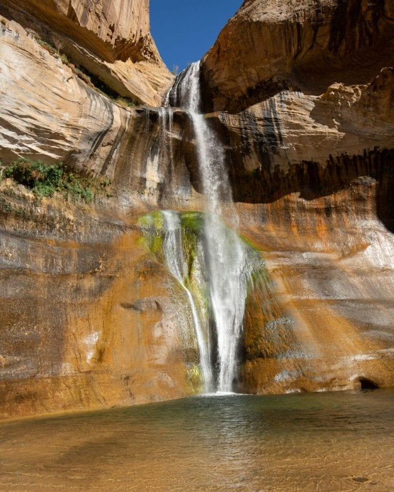 Lower Calf Creek Falls in Grand Staircase-Escalante National Monument in Utah