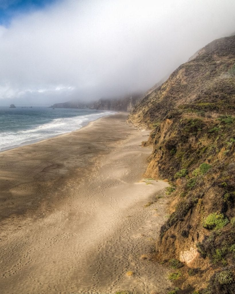 Pacific Coastline in Point Reyes National Seashore along the trail to Alamere Falls