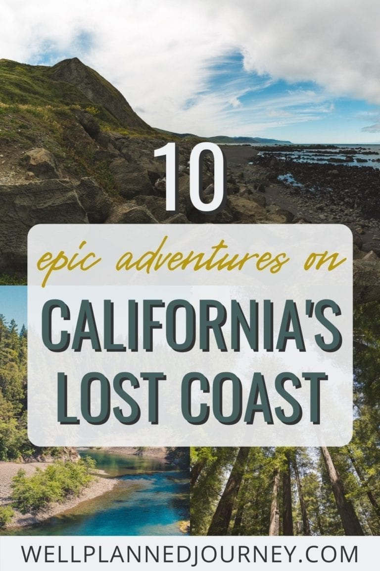 The Best Northern California Road Trip: California's Lost Coast Pinterest Pin