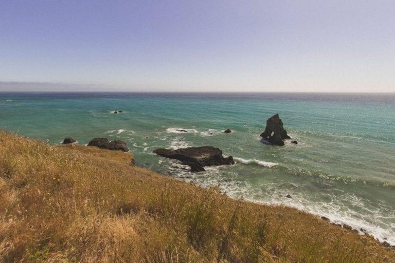 Mattole Road reaches the ocean in California's Lost Coast