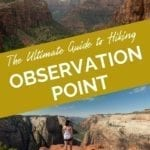 Hiking Observation Point: The Best View in Zion National Park Pinterest Pin