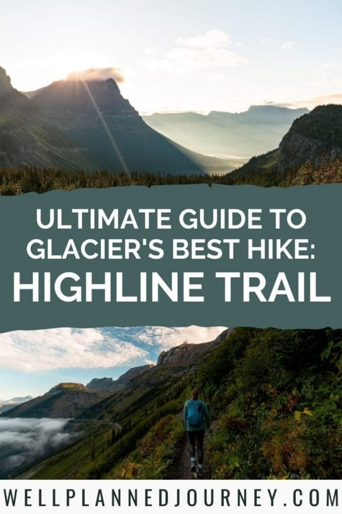 How to Hike the Highline Trail in Glacier National Park Pinterest Pin