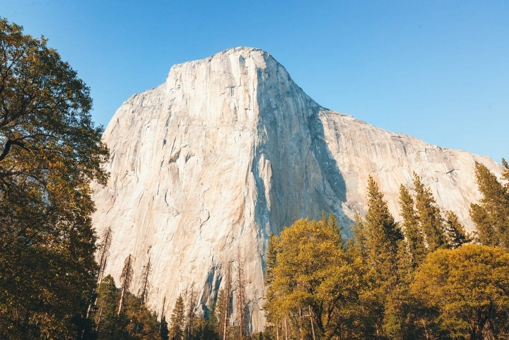 El Capitan as seen from Northside Drive in Yosemite National Park