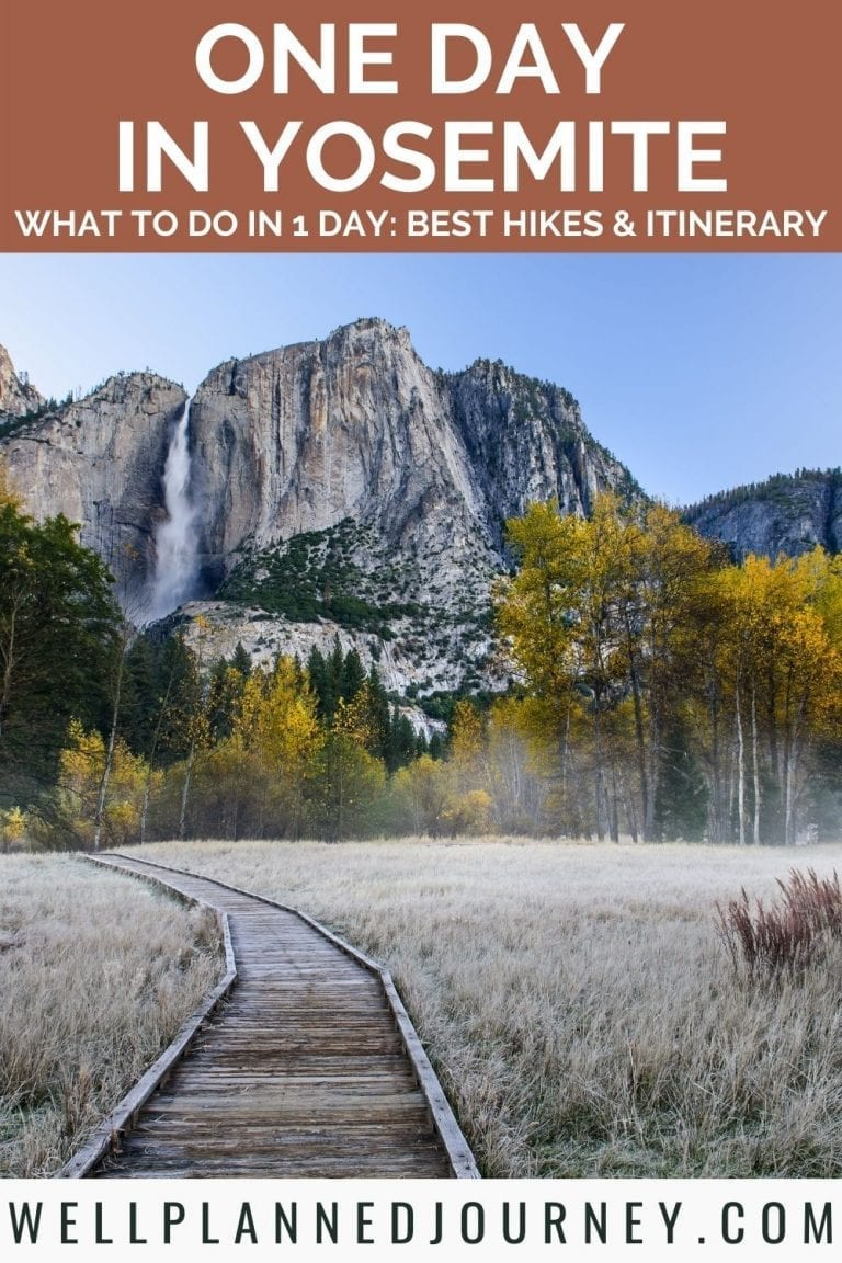 One day trip to Yosemite Pinterest Pin