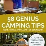 58 Camping Tips for Beginners Pinterest Pin