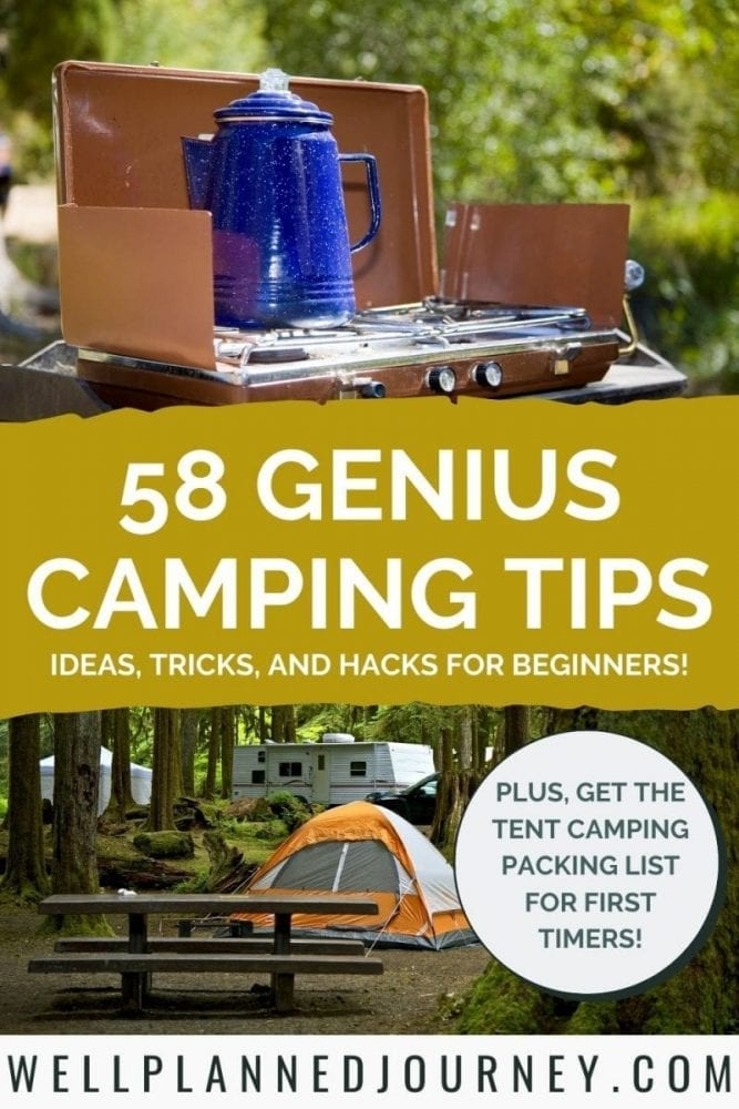 58 Insanely Useful Camping Tips for Beginners