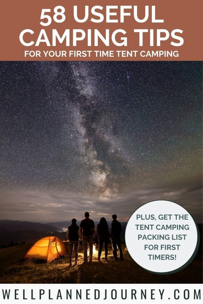 58 Useful Camping Tips for Beginners Pinterest Pin