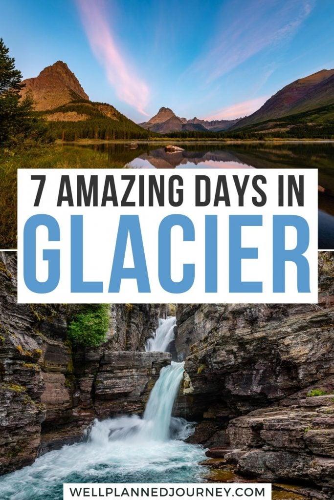 Glacier National Park Itinerary 7 Days Pinterest Pin