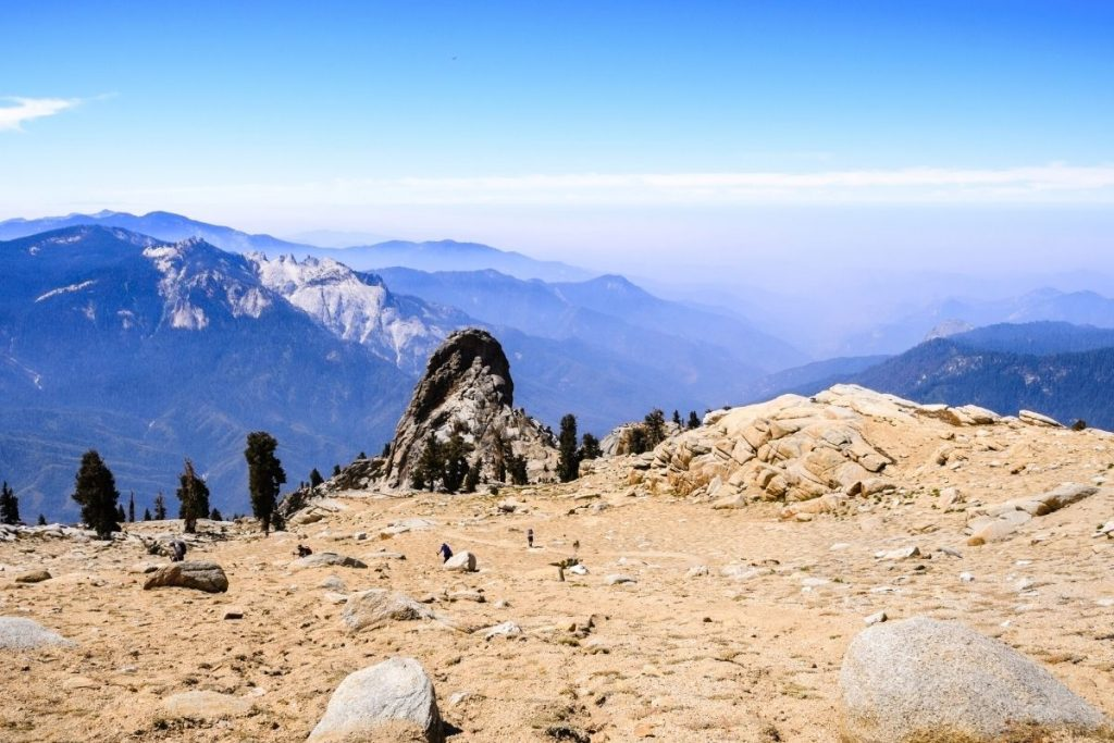View from the top of Alta Peak hike in Sequoia National Park