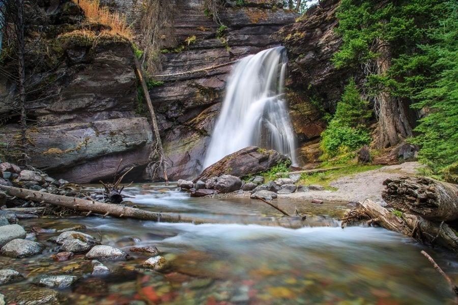 Baring Falls hike in Glacier National Park
