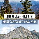 Best hikes in Kings Canyon National Park Pinterest pin
