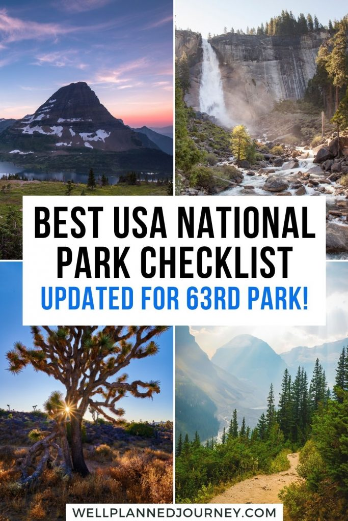 Checklist of national parks by state Pinterest Pin