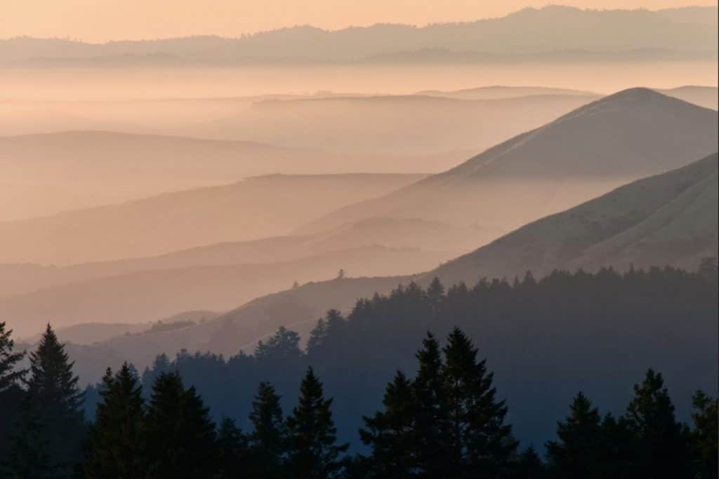 Bolinas Ridge sunset in Mt. Tamalpais State Park