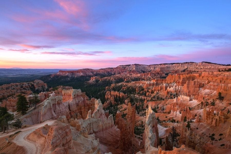 Colorful sunrise in Bryce Canyon National Park