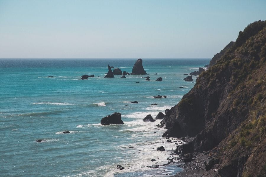 A rugged California coast in California's Lost Coast, an epic Northern California road trip.