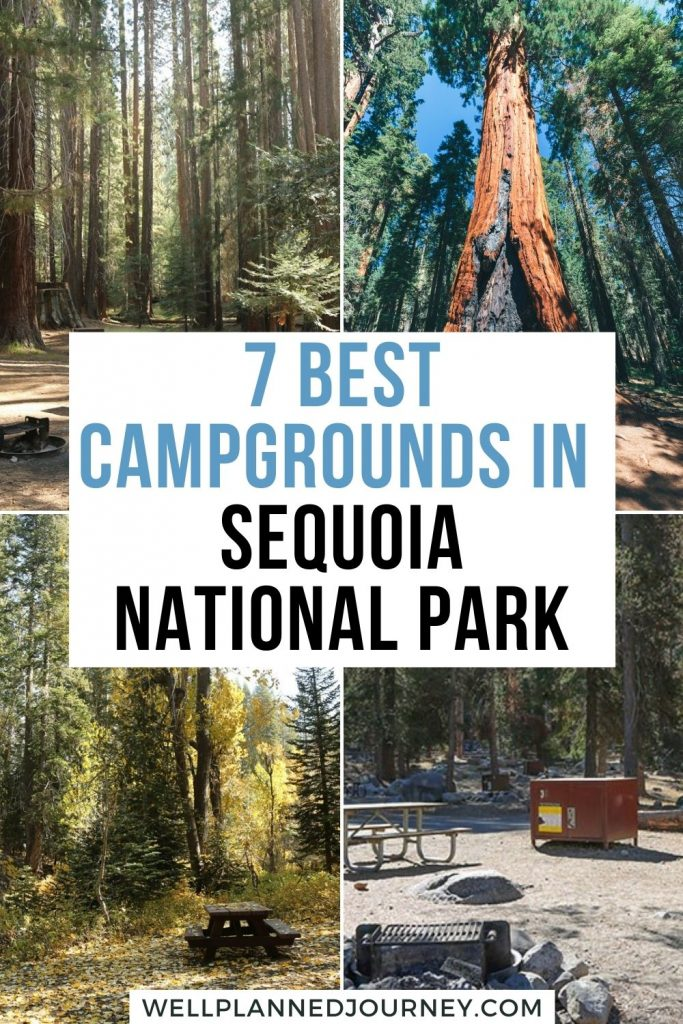 Best Camping in Sequoia National Park Pinterest Pin