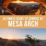 Mesa Arch Sunrise Pinterest Pin