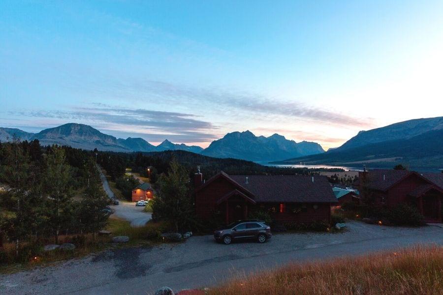 Cottages at Glacier cabins in Glacier National Park