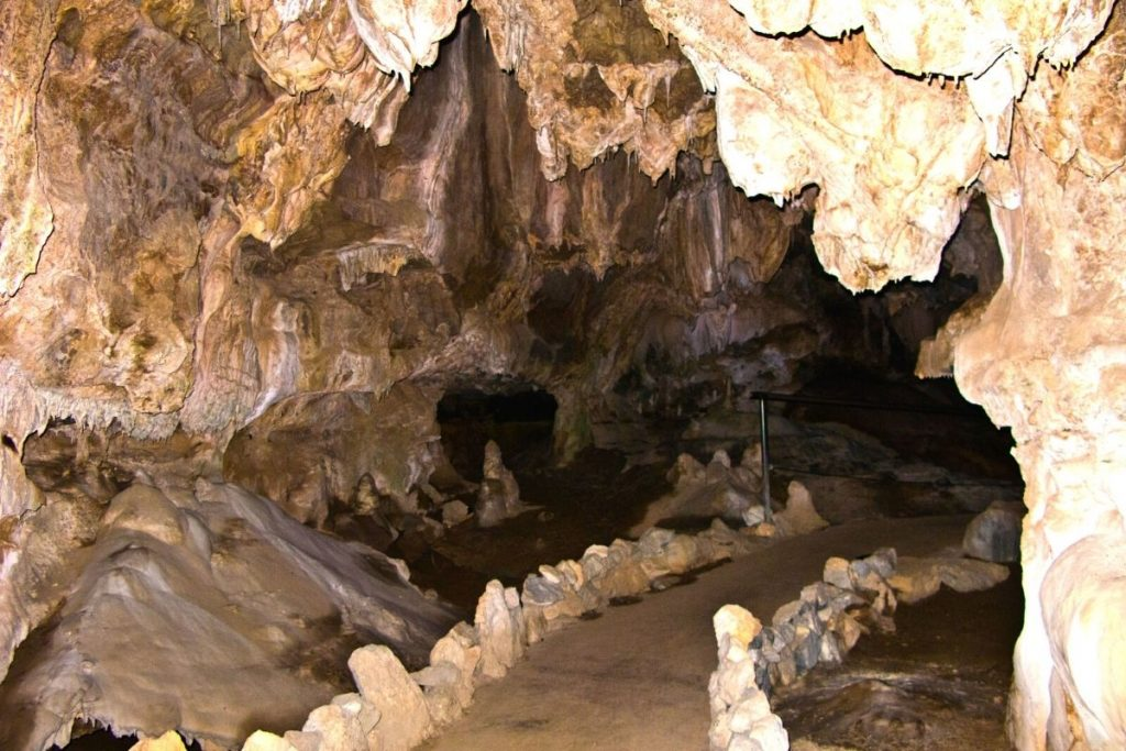 Inside of Crystal Cave in Sequoia National Park