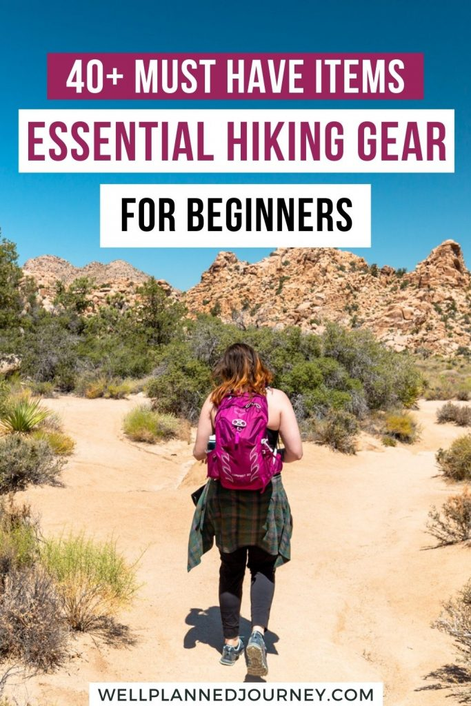 What to Pack for Hiking: Essentials for a Hike Pinterest Pin