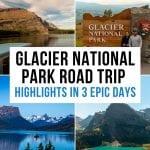 3 Day Glacier National Park Itinerary Pinterest Pin
