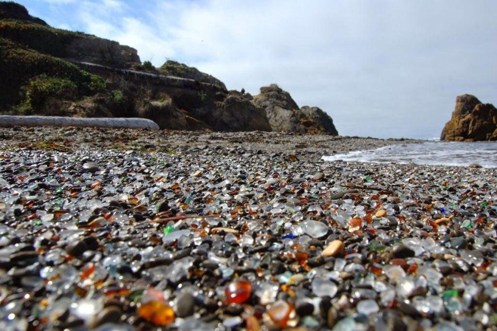 Glass Beach in Fort Bragg, California