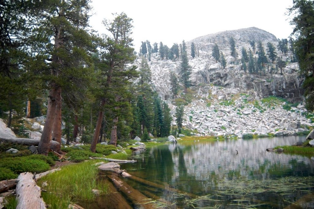 Heather Lake in the Sierras in Sequoia National Park