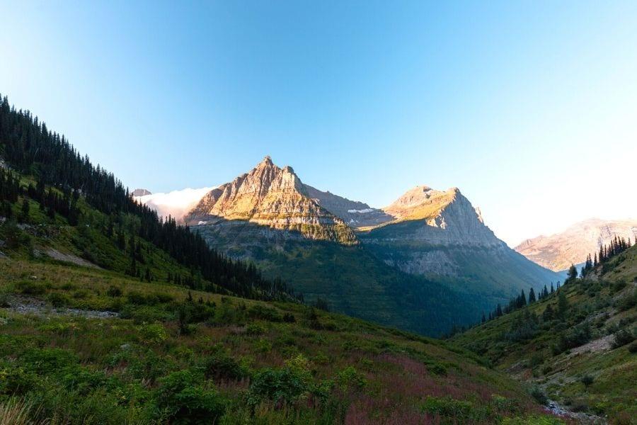 Highline Trail hike in Glacier National Park