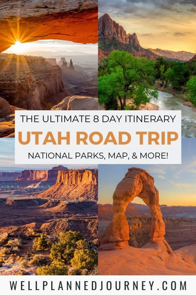 Best Utah National Parks Road Trip Pinterest Pin