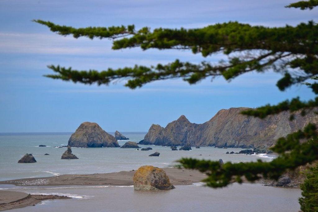 Ocean views in Jenner, California