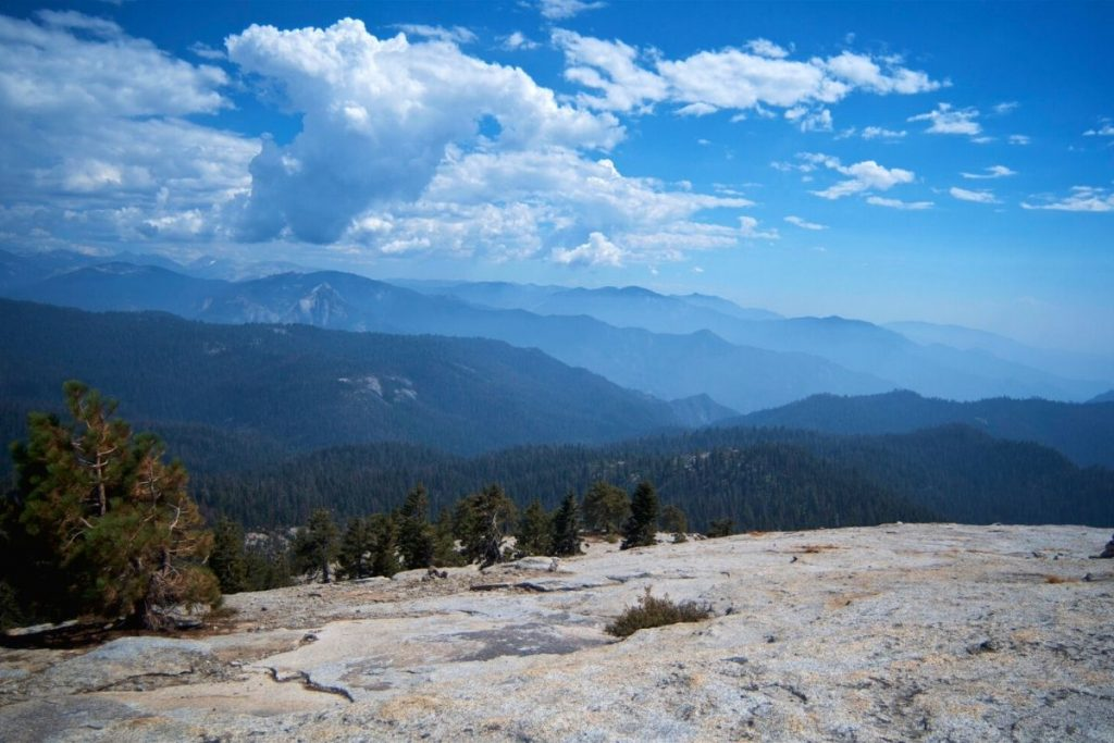 View from the summit of Little Baldy in Sequoia National Park