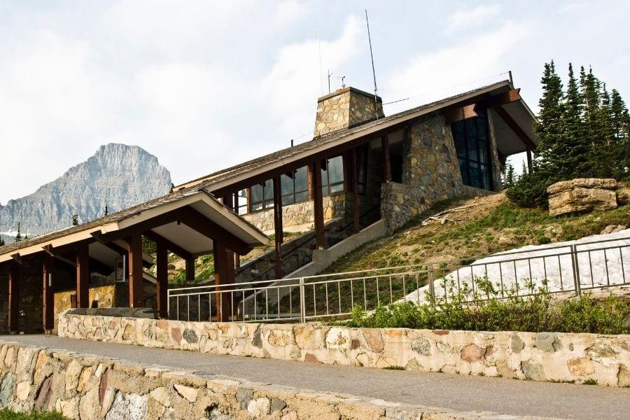 Logan Pass Visitor Center in Glacier National Park