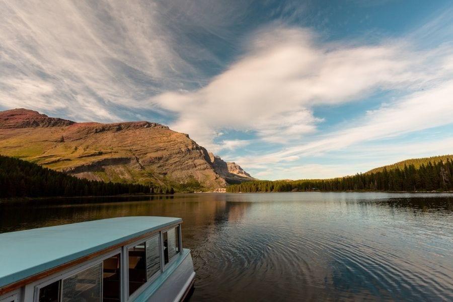 Many Glacier Boat Tour on Swiftcurrent Lake in Glacier National Park