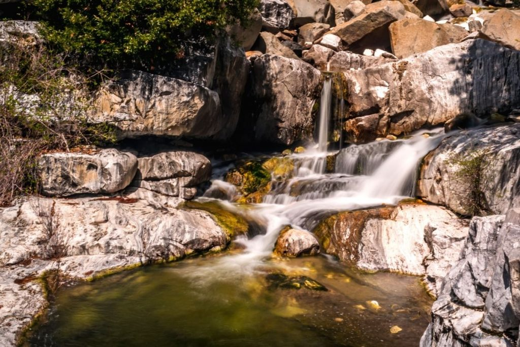 Cascades at Marble Falls hike in Sequoia National Park