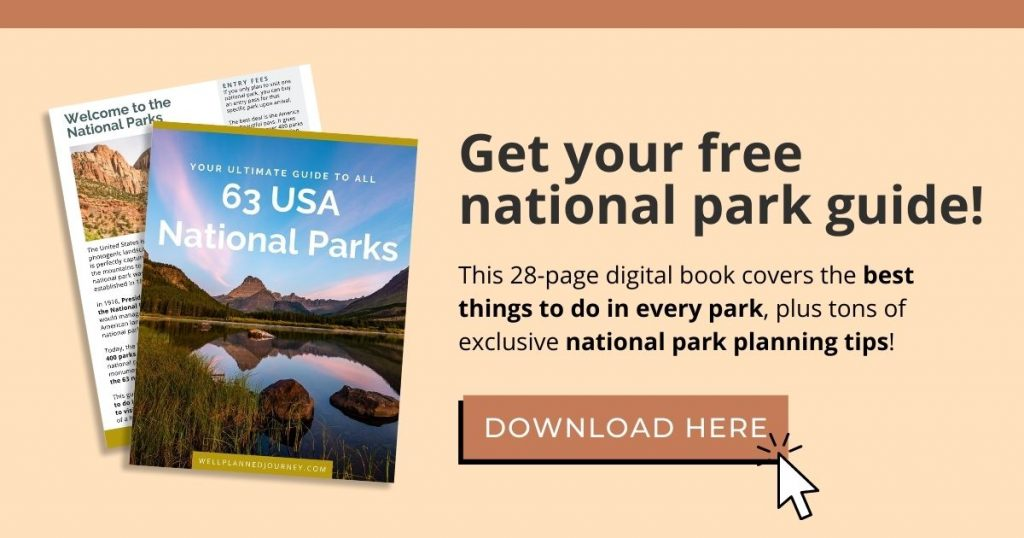 Subscribe to get the free national park guide.