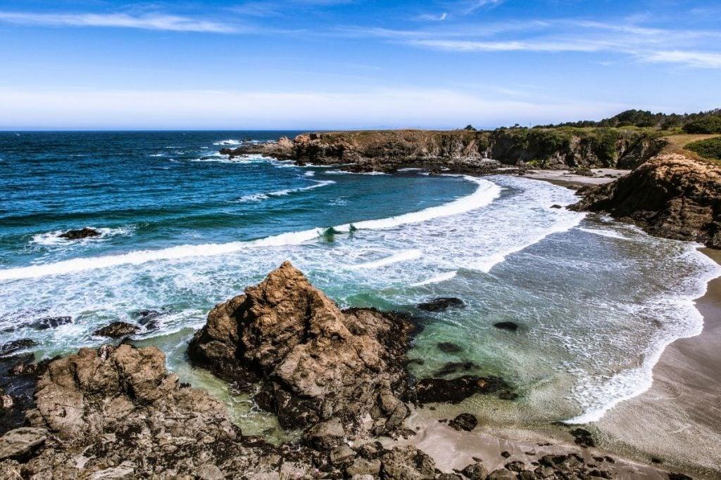 Overlook of California Coast on road trip