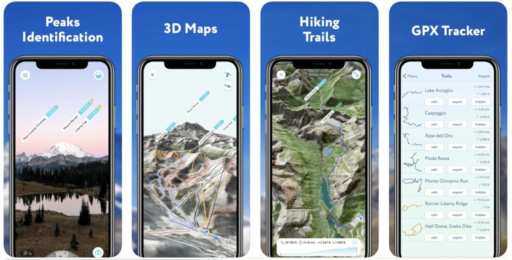 PeakVisor hiking App