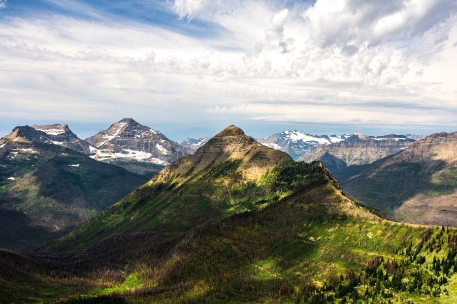 Pitamakan Pass and Dawson Pass in Glacier National Park