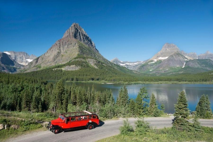 Red Jammer Bus Tour in Glacier National Park