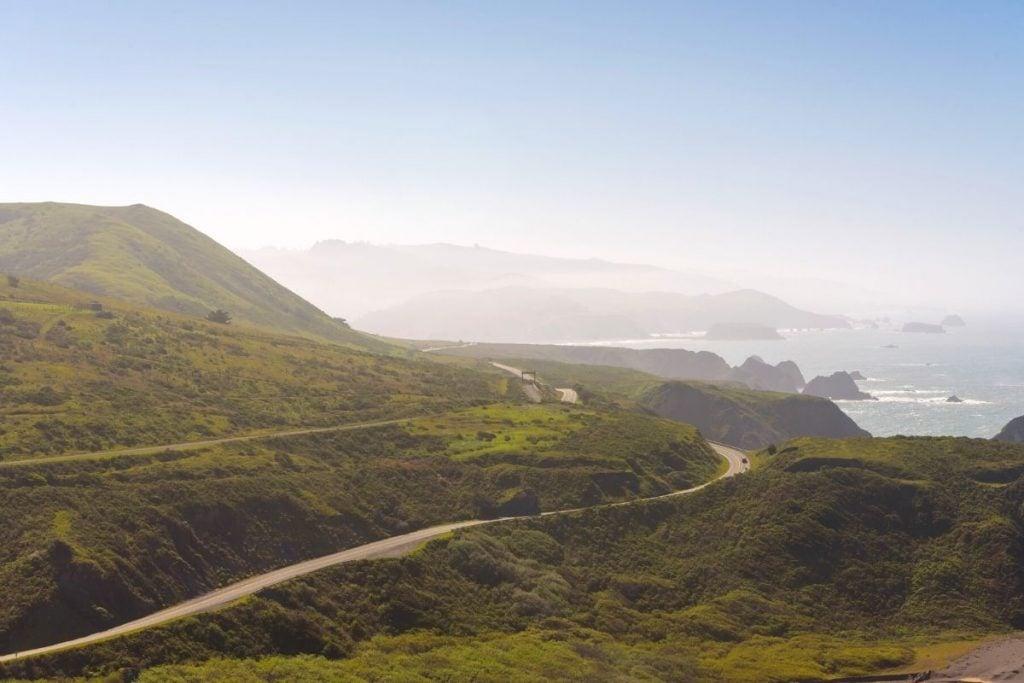 Coastal view on San Francisco road trip