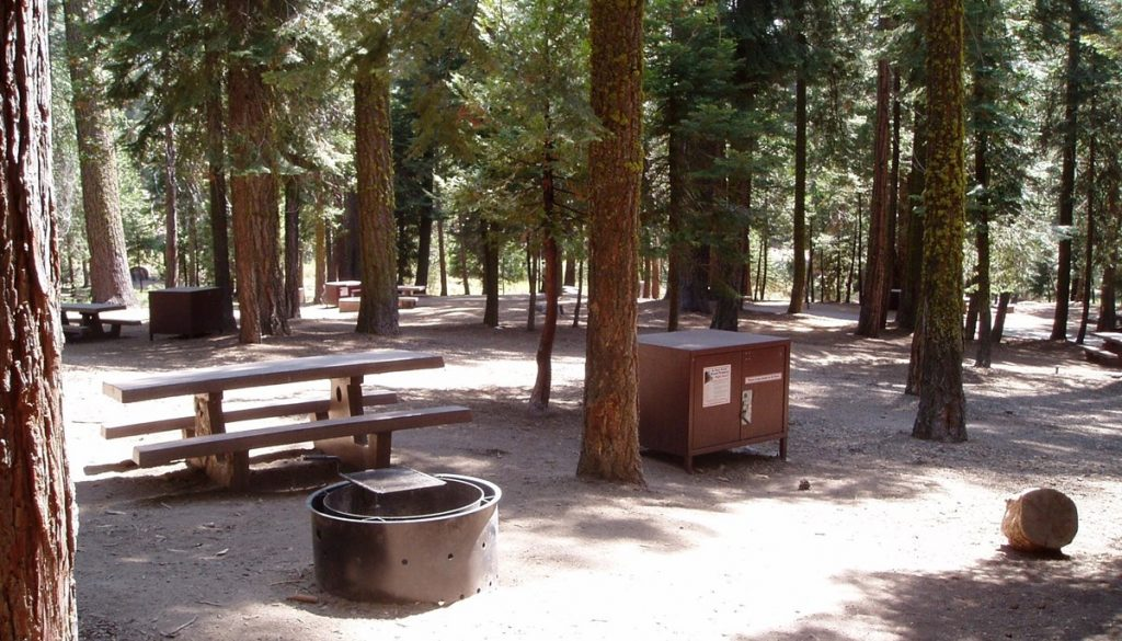Sunset Campground in Kings Canyon National Park