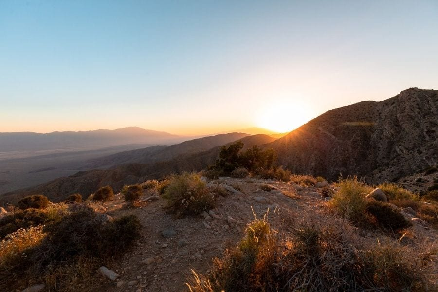 Sunset from Keys Viewpoint in Joshua Tree National Park