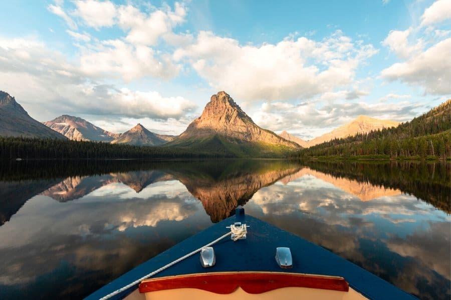 Boat Tour of Two Medicine Lake in Glacier National Park