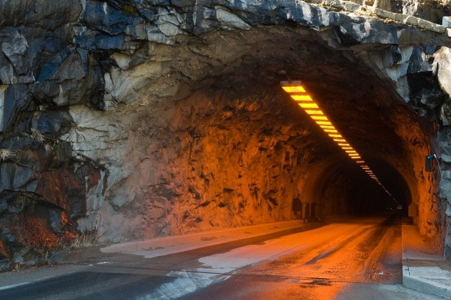 Wawona Tunnel in Yosemite National Park