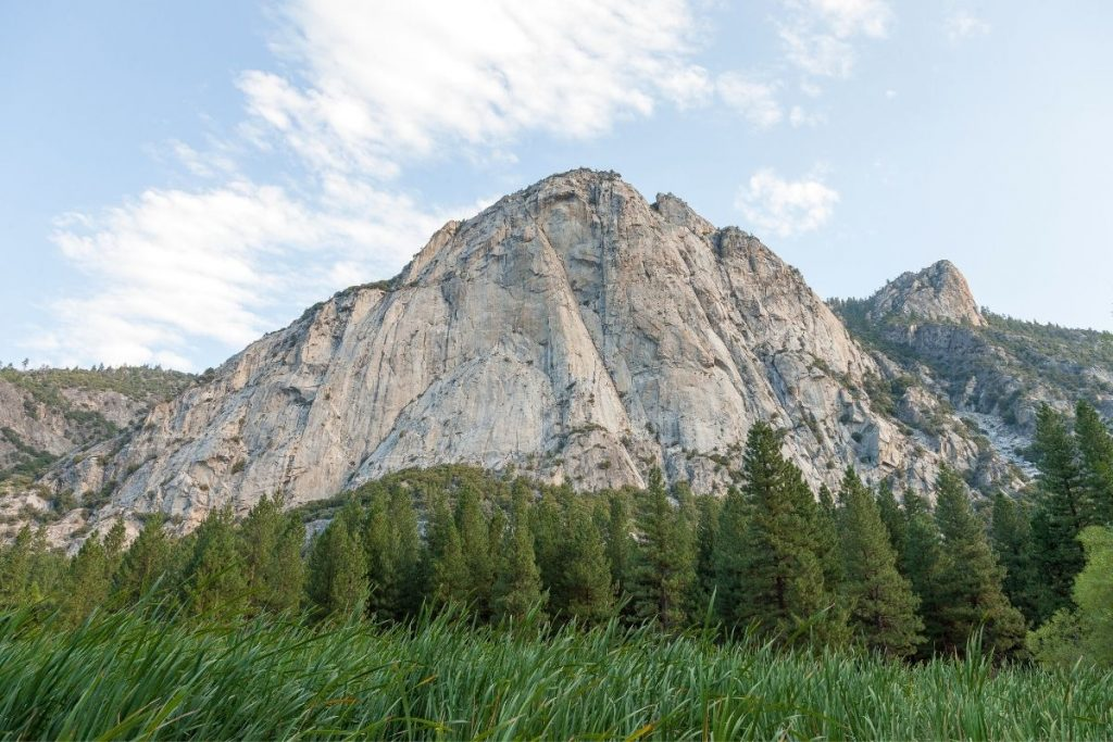 View of mountains from Zumwalt Meadow in Kings Canyon National Park